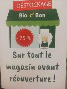 75% de réduction sur tout le magasin (déstockage avant fermeture) - Colombes (92) / Paris (75002)