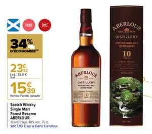 Bouteille de Scotch Whisky Single Malt Aberlour - 70 cl (Via 7.93€ sur la carte fidélité)