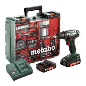 Coffre Perceuse-visseuse sans-fil Metabo SB 18 Set - 18V, 2 Batteries 2Ah Li-Ion, Chargeur, Atelier mobile