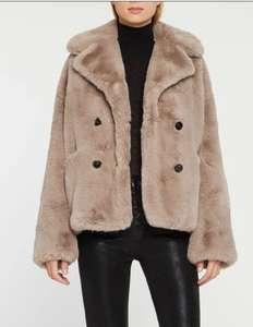 Manteau court col tailleur en fausse fourrure The Kooples - Taille 2