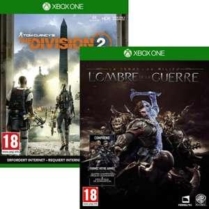 La Terre du Milieu - L'Ombre de la Guerre ou The Division 2 sur Xbox One (vendeur tiers)
