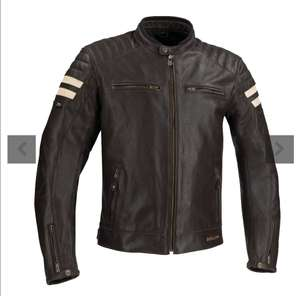 Blouson Moto en cuir Segura Stripe - Du S au 4XL