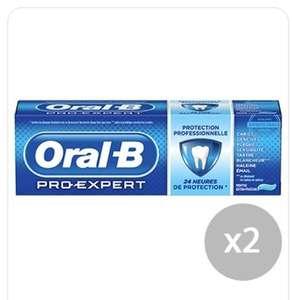 Lot de 2 tubes de dentifrice Oral B Pro Expert - 2 x 75 ml (via BDR 1.10€ sur l'Application) - Seysses (31)