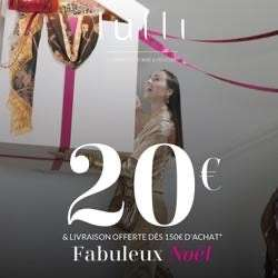20€ de réduction dès 150€ d'achat (lulli-sur-la-toile.fr)