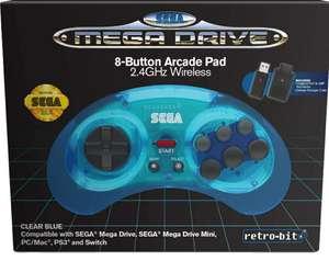 Manette Retrobit Sega Mega Drive Sans-fil - 2.4Ghz / Dongle USB