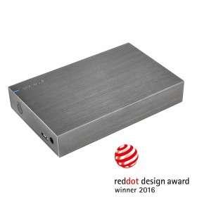 "Disque dur externe 3.5"" Intenso Memory Board - 4 To, USB 3.0, boîtier aluminium, Anthracite, 5400 tpm"