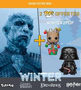2 Figurines Pop! offertes pour la commande d'une Wootbox Winterbox