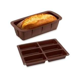 Lot de 1 Flexi moule cake et 1 Flexi plaque 6 petits cakes en silicone