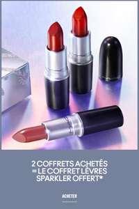 2 coffrets achetés = le coffret lèvres sparkler offert