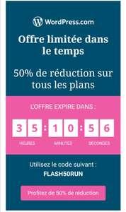 50% de réduction immédiate sur l'ensemble des offres (wordpress.com)