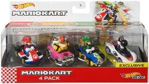 Pack de 4 figurines Hot wheels Mario Kart