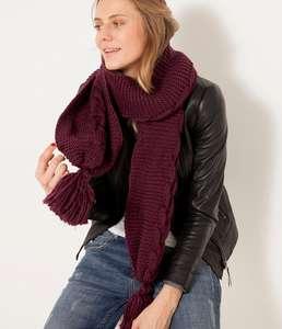 Écharpe chaude en tricot femme