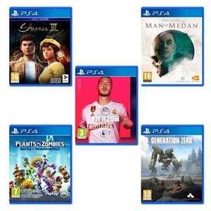 Pack 5 Jeux PS4 : FIFA 20 + Génération Zéro + Shenmue III + Man of Medan + Plants VS. Zombies: Battle for Neighborville