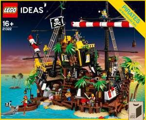 Jouet Lego Ideas 21322 Les pirates de la baie de Barracuda