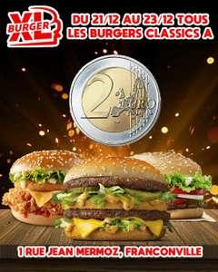 Tous les burgers classics à 2€ - XL Burger Franconville (95)