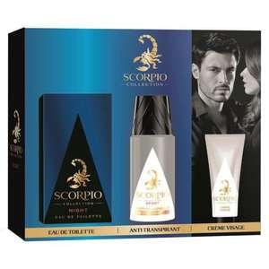 Coffret Scorpio Night - Eau de Toilette 75 ml + Déodorant Atomiseur 150 ml + Gel Crème Visage 50 ml