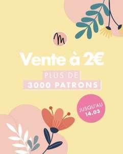 Sélection de patrons de couture (PDF) en promotion à 2€