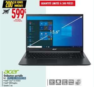 "PC Portable 15.6"" Acer Aspire A515-55-54VJ - Full HD, i5-1035G1, RAM 16 Go, SSD 512 Go, Windows 10"