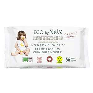 12 paquets de 56 lingettes Eco by Naty