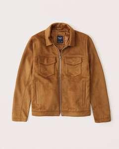 Veste Faux Suede Trucker Jacket pour Homme - Tailles XS à M