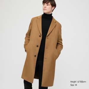 Manteau en cachemire et laine Homme Chesterfield (plusieurs couleurs)
