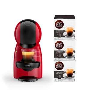 Cafetière à capsules Krups Dolce Gusto Piccolo XS (YY4580) + lot de 3 paquets de capsules de café Dolce Gusto Espresso Intenso