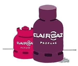 Bouteille de gaz Clairgaz - consigne + charge, butane (13 kg) à 21.9€ ou propane (11 kg) à 18.9€