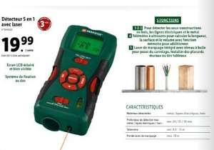 détecteur 5 en 1 avec laser + télémètre Parkside