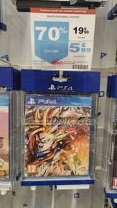 Jeu Dragonball Fighterz sur PS4 à 5,99€ (via 14€ sur carte fidélité) - Auchan Aubière (63)