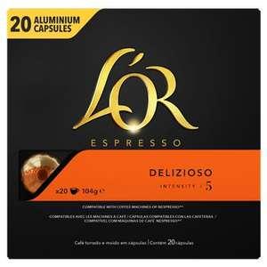 Lot de 3 paquets de 20 capsules L'Or Espresso - Compatibles Nespresso