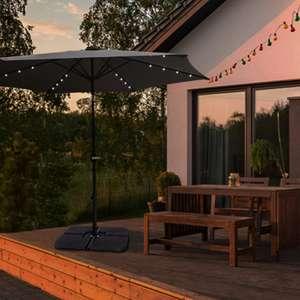 Parasol droit lumineux Les Jardins d'Ismir - 24 LED, anthracite (frais de port inclus)