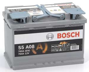 Batterie de Voiture Bosch S5A08 70A/h-760A
