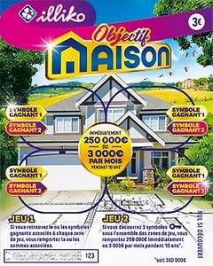 Jeu à gratter Illiko Objectif Maison (via Quoty + Shopmium)