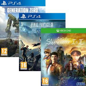 Sélection de jeux PS4 et Xbox One à 2€ - Ex: Shenmue I & II sur Xbox One