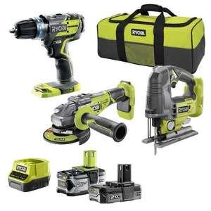 Set de 3 outils sans fil Ryobi R18ck3bl-242s moteur brushless