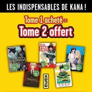 Tome 1 acheté = Tome 2 offert sur une sélection de 5 mangas Kana