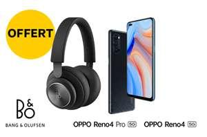 """Smartphone 6.5"""" Oppo Reno 4 Pro - 12 Go RAM, 256 Go + Casque Bang&Olufsen Beoplay H4 (2ème gen.)"""