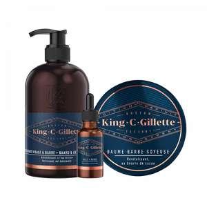 Sélection de produits King C Gilette en promotion + Cashback iGraal - Ex: Coffret soin + Huile à barbe à -46%