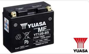 Batterie moto Yuasa YT12B-BS (10.5Ah, Compatible Ducati, Yamaha, Triumph...)