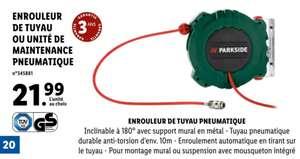 Enrouleur de tuyau pneumatique