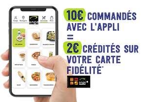 2€ crédités sur la carte de fidélité tous les 10€ d'achat (via l'application mobile) - Boulangerie Ange