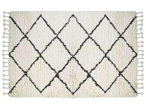 Tapis style berbère Marcus - 100% laine, 160 x 230cm - Beige et noir