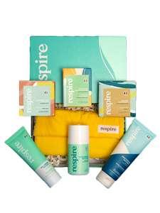 Coffret Big Love - Shampoing + Savon + Nettoyant visage + Déodorant + Dentifrice + Crème visage et pochette éponge (respire.co)