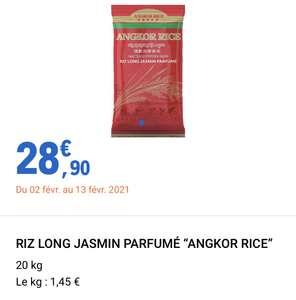 Sac de Riz Long Jasmin Parfumé Angkor Rice (20 kg)