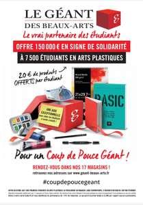 [Étudiants en arts] 20€ offerts sans minimum d'achat