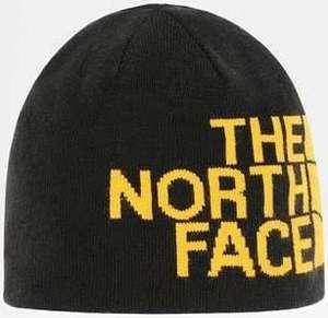 Bonnet Réversible The North Face - Banner Black/Summit Gold, Taille Unique