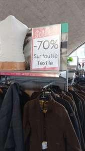 70% de réduction sur tout le rayon textile - St Fargeau Ponthierry (77)