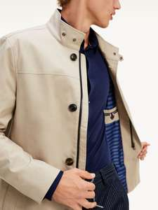 Manteau Homme Trench-Coat Col Montant Tommy Hilfiger