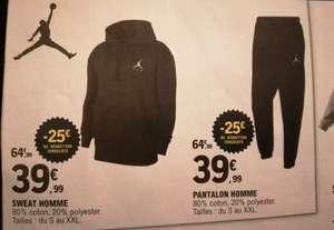 Sweat ou pantalon Jordan - Toutes tailles (Magasins participants)