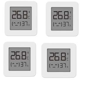 Lot de 4 capteurs de température et d'humidité Xiaomi Mijia V2 - Bluetooth, Blanc